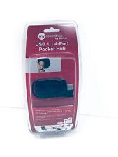 New! Belkin USB 1.1 - 4-Port Pocket Hub ~ Black