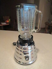 "Vintage 50's Osterizer Deluxe Chrome Beehive Blender Two Speed  Model 403 ""USA"""