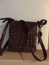 Nine West Brown Leather Vintage America Collection Crossbody /Shoulder Handbag