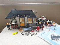 Rare Vintage Playmobil 5013 Police Station **VGC** With Patrol Car & Bike