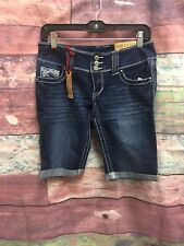 NEW AMETHYST Womens Low-Rise Denim Jeans Shorts Size 3