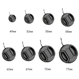 Center-Pinch Snap on Front Lens Cap Cover for DSLR Camera Lens 49mm-77mm