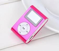 5 x MP3 Player LCD Display Akku Micro SD Slot Miniclip Zubehörpakett Rosa defekt
