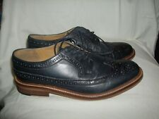 "BERTIE    Navy Leather ""Pharrell"" Brogues   UK 9 (43)  Great Condition"