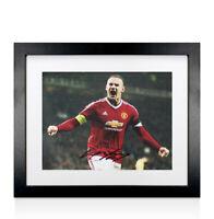 Framed Wayne Rooney Signed Manchester United Photo - Celebration Autograph