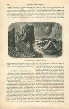 Le Claps de Luc Lac de Drôme/Calice de Pedro de Luna Tortosa GRAVURE PRINT 1863