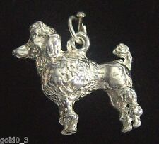 Poodle charm Sterling silver 925 charmmakers 3D