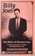 "BILLY JOEL 1996 ""RIVER OF DREAMS TOUR"" SAN DIEGO CONCERT POSTER-Piano Rock Music"