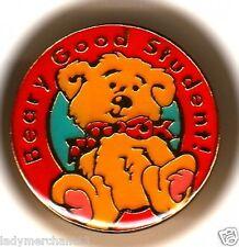 """Beary Good Student"" Bear Enamel Lapel Pins/Lot of 25/All New Line!"