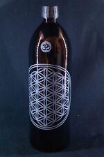 1 L Trinkflasche Miron violettglas Blume des Lebens V3 Yoga, spülmaschinenfest