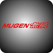 RED Vinyl sticker car MUGEN tuning logo 15x2 Honda Accord Civic CR-V Pilot decal