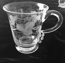 Pair Antique Cut Glass Pot de Cremes/ Custard Cups, England, Ca 1890