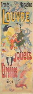Original Vintage Affiche Cheret Grands Magasins Du Louvre Jouets Enfants 1891