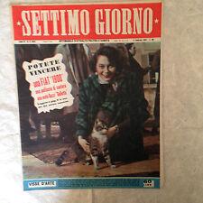 RIVISTA SETTIMO GIORNO 5 2/1953 MARTA TOREN BRASILE ANSALDO MORANDO APOLLONI