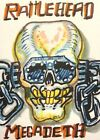 Rattlehead Megadeth Heavy ACEO ATC original Card  miniature collectible Painting