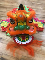Lion Dance Costume for One Children Chinese Wool Mascot Kid Dress Folk Art Party