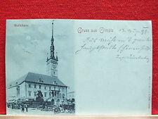 Mondscheinkarte - Gruss aus Olmütz / Olomouc - Rathaus - gel. 1899 - Kutsche  m1
