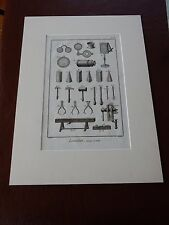 OPTICIAN OPTICAL  amazing mounted 1700s engravings equipment j GIFT POTENTIAL