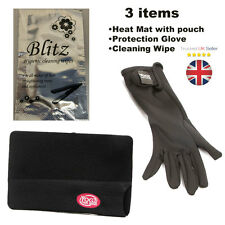 Hair Straightening Heat Protection Mat with Pouch and Yogi Glove and Wipe 3 Item