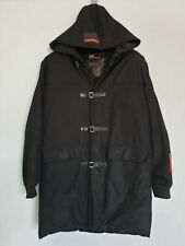 PRADA Mens Jacket Black Hooded 100% Down Quilted Duffle Coat Made in Italy L / M
