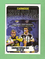 #D133. 2009 WORLD CLUB CHALLENGE  RUGBY LEAGUE CARD SET, 2009 MANLY  V LEEDS #33