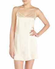 La Perla Dolce Collection S 100% Silk Chemise Blush Champagne Elegant New