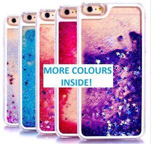 Liquid Glitter Gel Phone Case Cover Apple iPhone X 5 6 7 8 Samsung S9 S8 S9 S10