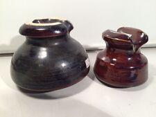 Vintage Brown Ceramic Losco Insulator Electric Telephone Excellent Lot Of 2