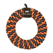 Tall Tails 6 in BRAIDED RING Dog Toy ORANGE