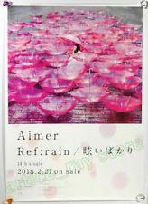 Aimer Ref:rain Mabui Bakari Japan Promo Poster Refrain 2018 NEW