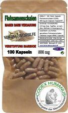 100 Kapseln 500 mg Flohsamenschalen. DARMFUNKTION DURCHFALL sowie DARMTRÄGHEIT