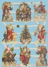 Oblaten, Glanzbilder, Scrap Weihnachtsmann / Nikolaus  EF7403