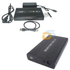 CASE BOX ESTERNO PER HARD DISK 3,5 SATA USB 2.0 TASTO ON OFF CAVO + ALIMENTATORE