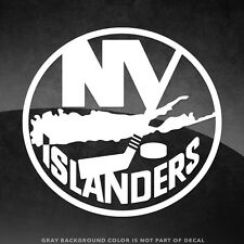 """New York Islanders Vinyl Decal Sticker - 4"""" and Larger - 30+ Color Options!"""