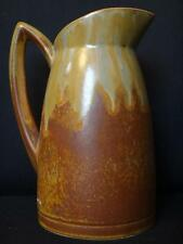 Beau pichet en grés Denbac 20cm  ceramique à coulures 1930