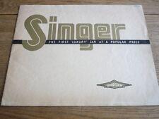 SINGER NINE BANTAM, TEN, TWELVE AND DROPHEAD COUPE CAR BROCHURE 1939