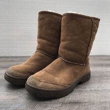 UGG Ultimate Short 5275 Women's Tan Suede Fur Lined Winter Boots Size 7