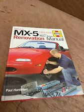 Haynes MAZDA MX-5 Renovation Manual 1989-2005 Miata Eunos by Paul Hardiman