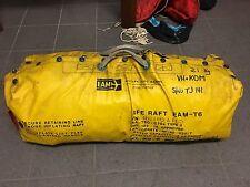 EAM 6 man self inflating life raft