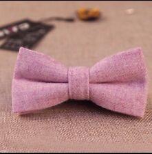 Vintage Purple Tweed / Wool Pre-Tied Mens Bow Tie. Great Quality & Reviews. UK.