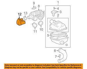 Scion TOYOTA OEM 05-10 tC Air Cleaner Intake-Resonator Duct Tube Hose 1789428090