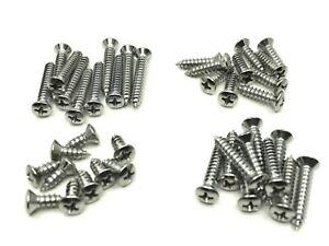 40 pcs #10 with #8 phillips oval head chrome automotive trim screws fits Dodge