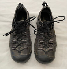 Mens Keen Steel Toe Work Hiking Boots Shoes Size Adult 10 Black Charcoal Gray