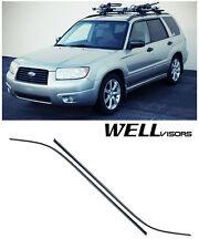 WELLVISORS Side Window Visors Premium Series For Subaru Forester 2006-2008