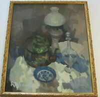RICHARDS SIGNED MODERNIST PAINTING STILL LIFE EXPRESSIONISM IMPRESSIONISM 1950'S