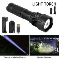 Zoomable Cree XML T6 Led Flashlight Torch Rechargeable Powerful Light Camping