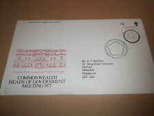 POST OFFICE FIRST DAY COVER COMMONWEALTH HEADS OF GOVERNMENT MEETING 1977