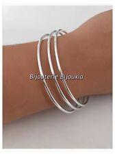 Bracelets Lot Triple Joncs  Argent Massif 925/1000  6,2 cm  Bijoux Femme