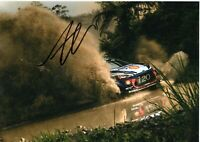 ANDREAS MIKKELSEN HAND SIGNED AUTOGRAPH 12X8 PHOTO RALLY WINNER WRC HYUNDAI