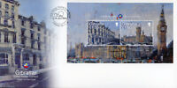 Gibraltar 2018 FDC Calpe House London 2v M/S Cover Big Ben Architecture Stamps